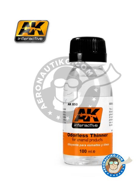 Odorless thinner for enamel and oil paints | Thinner manufactured by AK Interactive (ref. AK-050) image