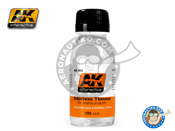 Image 1: Odorless thinner for enamel and oil paints | Thinner manufactured by AK Interactive (ref. AK-050)