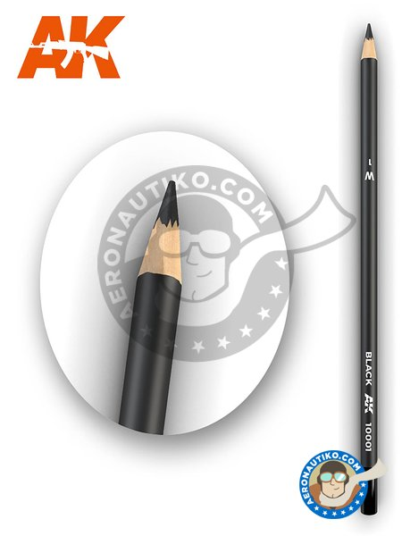 Weathering black pencil | Pencil manufactured by AK Interactive (ref. AK-10001) image