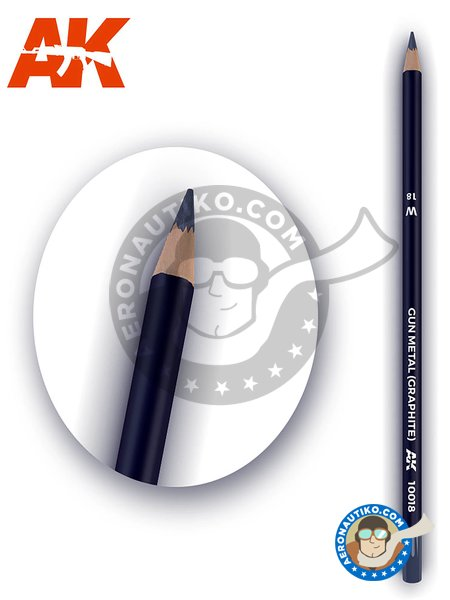 Weathering pencil, gun metal color. Graphite | Pencil manufactured by AK Interactive (ref. AK-10018) image