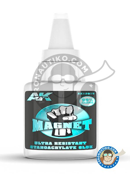 Magnet ultra resistant cyanocrylate glue | Glue manufactured by AK Interactive (ref. AK-12015) image