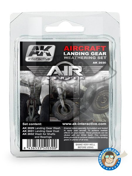 Aircraft Landing Gear Weathering Set |Air Series New 2018 | Paints set manufactured by AK Interactive (ref. AK-2030) image
