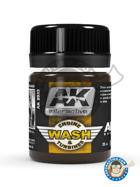 Aircraft Engine Wash | Air Series | AK Weathering efect product manufactured by AK Interactive (ref. AK-2033) image