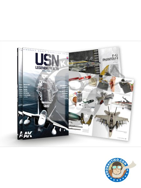 USN LEGENDARY JETS by Daniel Zamarbide | Book manufactured by AK Interactive (ref. AK-279) image