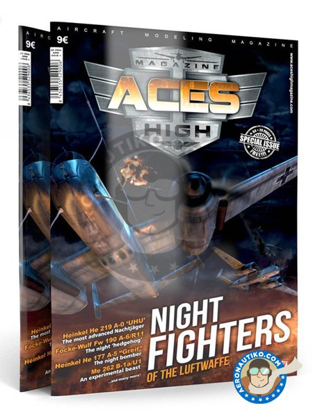 Magazine Aces High Cazas Nocturnos Issue 1 Night Fighters | Model kit manufactured by AK Interactive (ref. AK-2901) image