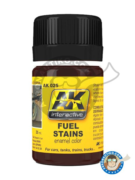 Fuel Stains | Paint manufactured by AK Interactive (ref. AK025) image