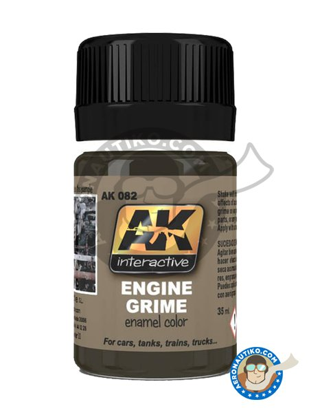 Engine Grime color. | Paint manufactured by AK Interactive (ref. AK082) image