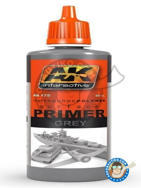 Primer Grey. 60mL | Primer manufactured by AK Interactive (ref. AK175) image