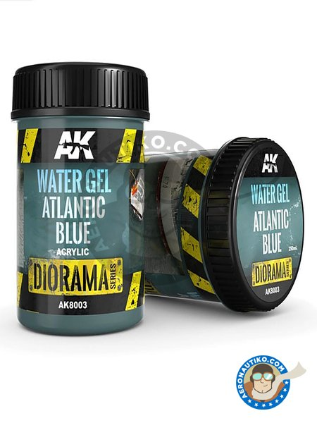 Water gel atlantic blue. 250ml | Textures and Dioramas manufactured by AK Interactive (ref. AK8003) image