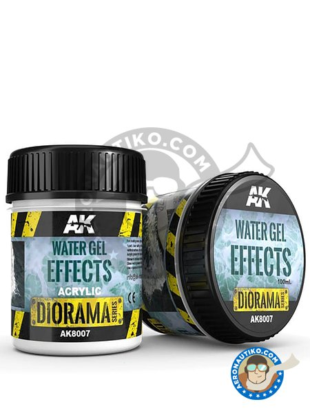 Water gel effects. 100ml | Textures and Dioramas manufactured by AK Interactive (ref. AK8007) image