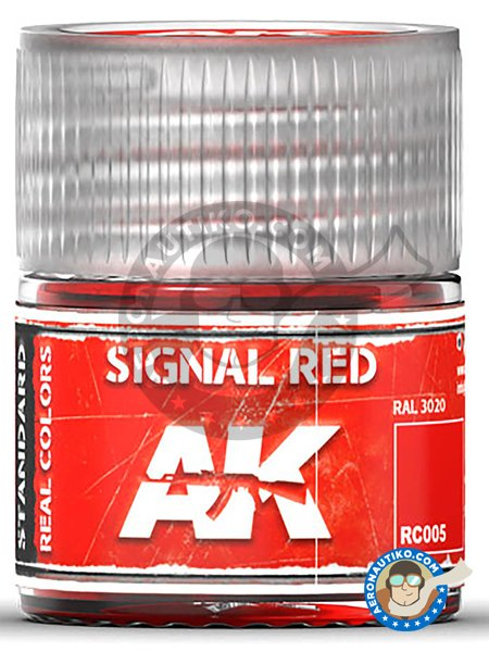 Signal red. RAL 3020. 10ml | Real color manufactured by AK Interactive (ref. RC005) image
