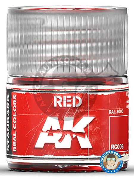 Red. 10ml | Real color manufactured by AK Interactive (ref. RC006) image