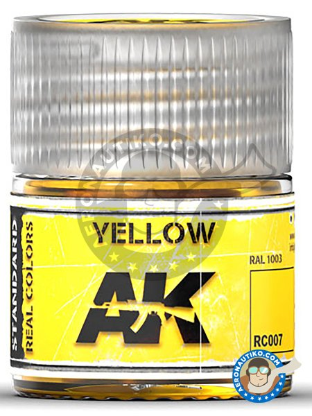 Yellow. RAL 1003. 10ml | Real color manufactured by AK Interactive (ref. RC007) image