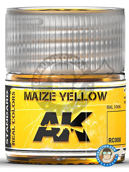 Maize yellow. RAL 1006. 10ml | Real color manufactured by AK Interactive (ref. RC008) image