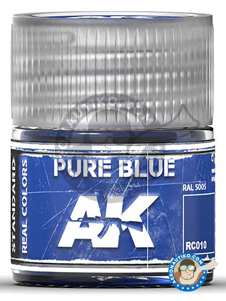 Pure blue. RAL 5005. 10ml | Real color manufactured by AK Interactive (ref. RC010) image