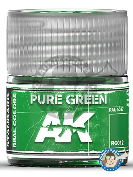 Pure green. RAL 6037. 10ml | Real color manufactured by AK Interactive (ref. RC012) image