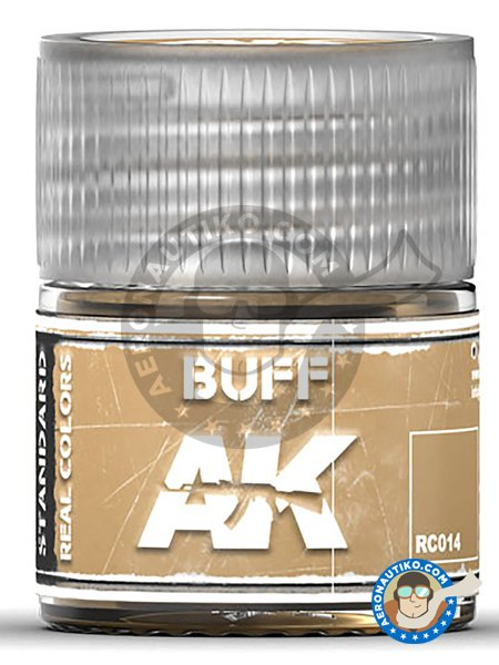 BUFF. 10ml | Real color manufactured by AK Interactive (ref. RC014) image