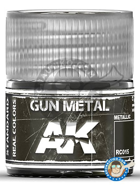 Gun metal. 10ml | Real color manufactured by AK Interactive (ref. RC015) image