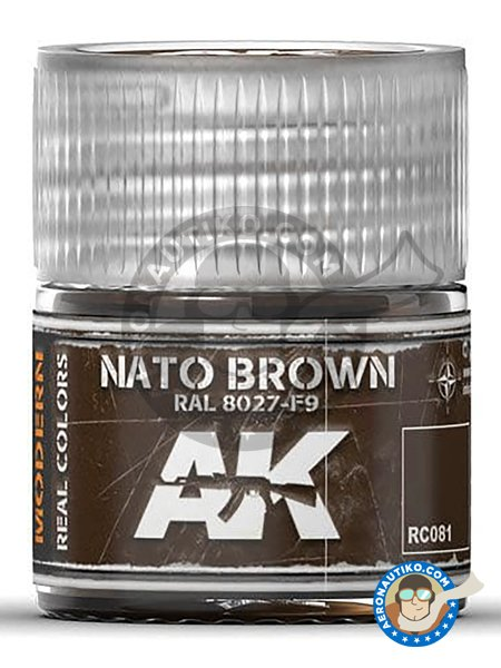 NATO Brown color RAL 8027-F9 | Real color manufactured by AK Interactive (ref. RC081) image