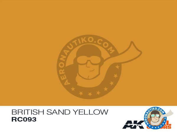 Image 1: British sand yellow | Real color manufactured by AK Interactive (ref. RC093)