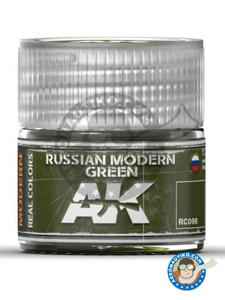 Color Russian modern green. | Real color manufactured by AK Interactive (ref. RC098) image