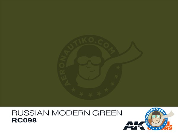 Image 1: Russian modern green | Real color manufactured by AK Interactive (ref. RC098)