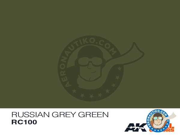 Image 1: Russian grey green | Real color manufactured by AK Interactive (ref. RC100)