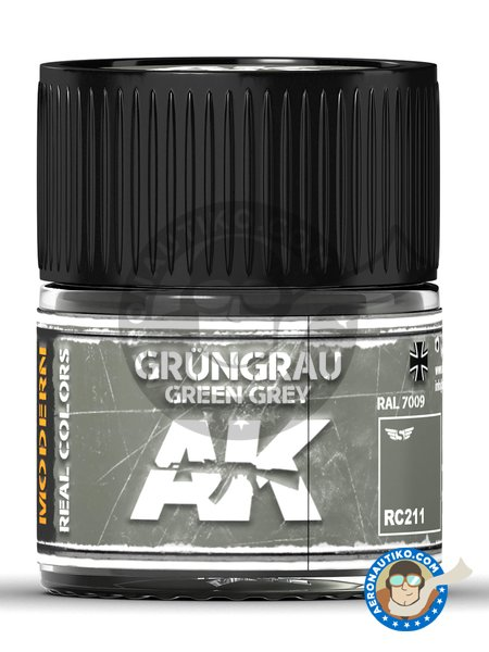 Green grey. RAL 7009. Grüngrau. 10ml | Real color manufactured by AK Interactive (ref. RC211) image