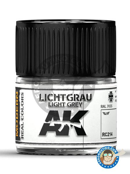 Light grey. RAL 7035. Lichtgrau | Real color manufactured by AK Interactive (ref. RC214) image