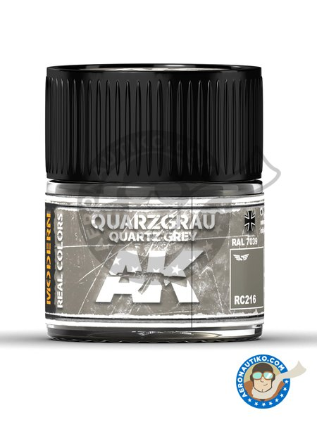 Quartz Grey. Quarzgrau. Ral 7039. 10ml | Real color manufactured by AK Interactive (ref. RC216) image