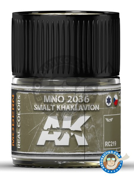 MNO 2036 Smalt Khaki Avion. 10ml | Real color manufactured by AK Interactive (ref. RC219) image