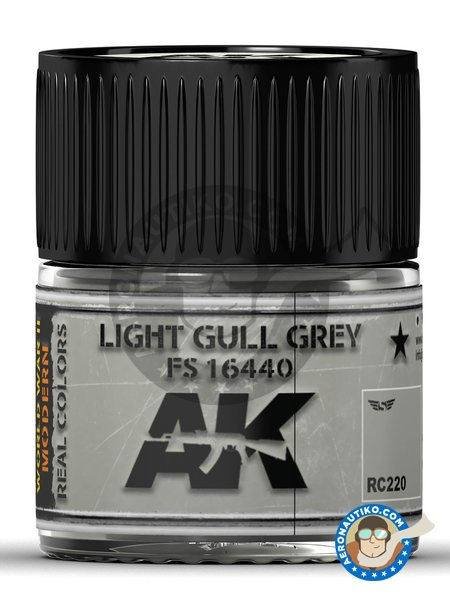 Light gull grey. FS 16440. 10ml | Real color manufactured by AK Interactive (ref. RC220) image