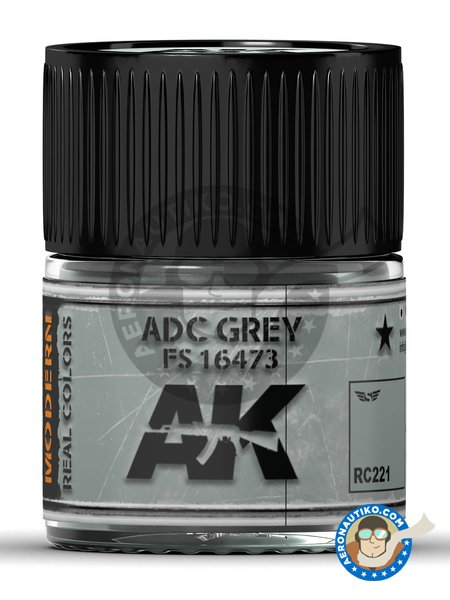 ADC Grey FS 16473. 10ml | Real color manufactured by AK Interactive (ref. RC221) image