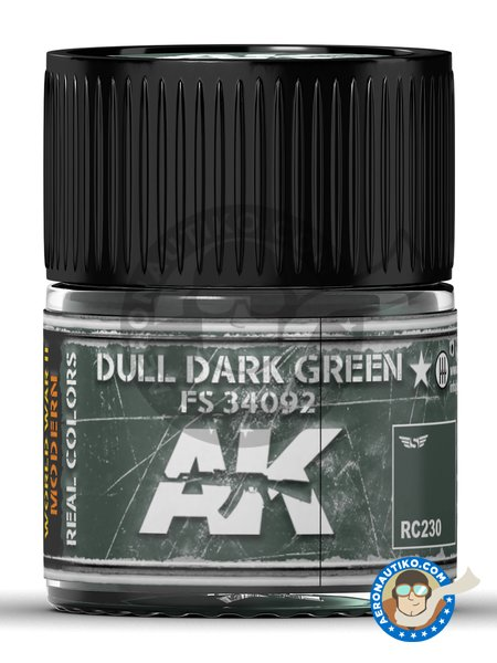 Dull dark green FS 34092. 10ml | Real color manufactured by AK Interactive (ref. RC230) image