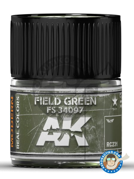 Field green. FS 34097 | Real color manufactured by AK Interactive (ref. RC231) image