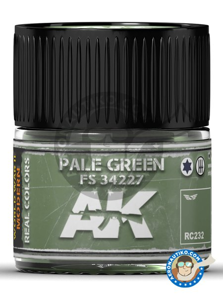 Pale green FS 34227. 10ml | Real color manufactured by AK Interactive (ref. RC232) image