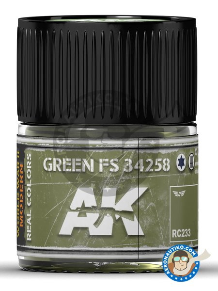 Color Green FS 34258. | Real color manufactured by AK Interactive (ref. RC233) image