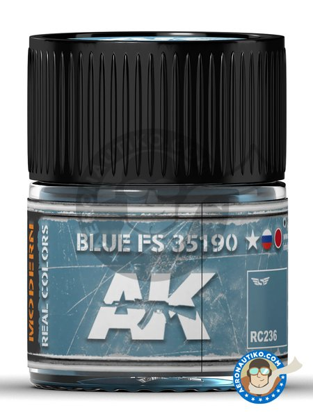 Blue FS 35190. 10ml | Real color manufactured by AK Interactive (ref. RC236) image
