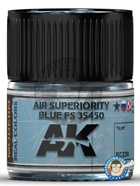 Air Superiority Blue FS 35450 | Real color manufactured by AK Interactive (ref. RC239) image
