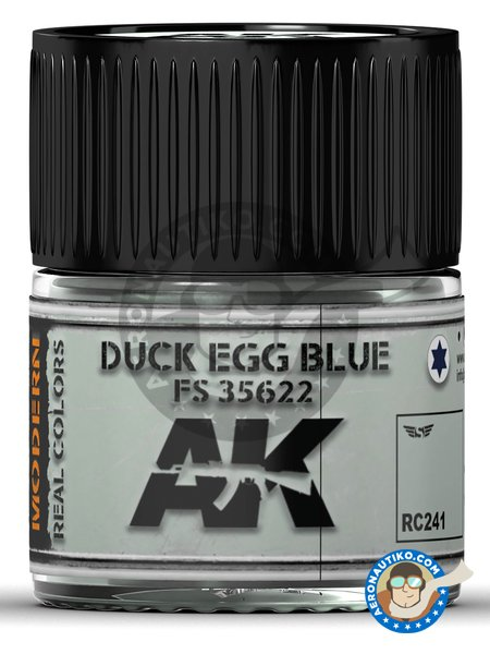 Duck egg blue. Light blue. FS 35622. 10ml | Real color manufactured by AK Interactive (ref. RC241) image