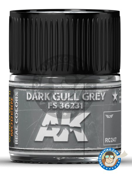 Dark gull grey FS 36231. 10ml | Real color manufactured by AK Interactive (ref. RC247) image