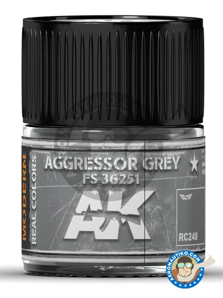 Aggressor grey FS 36251. 10ml | Real color manufactured by AK Interactive (ref. RC248) image