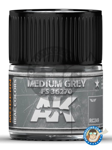 Medium grey FS 36270. 10ml | Real color manufactured by AK Interactive (ref. RC249) image