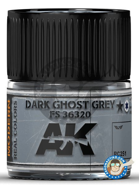 Dark Ghost Grey color FS 36320 | Real color manufactured by AK Interactive (ref. RC251) image