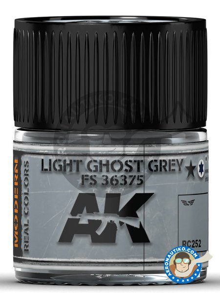Color Gris fantasma claro. FS 36375. Light Ghost Grey | Real color fabricado por AK Interactive (ref. RC252) image