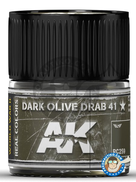 Dark Olive Drab 41 | Real color manufactured by AK Interactive (ref. RC259) image