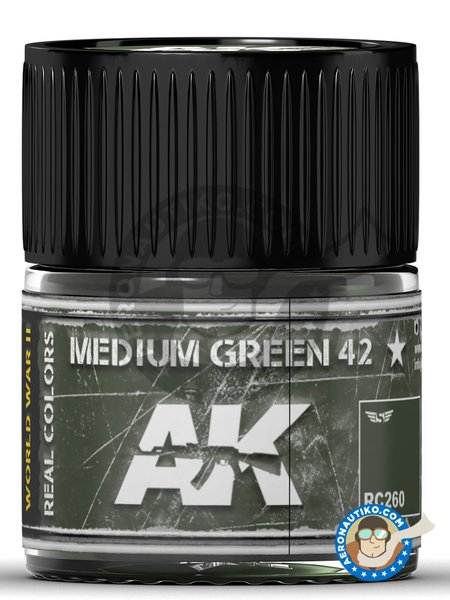 Medium Green 42 | Real color manufactured by AK Interactive (ref. RC260) image