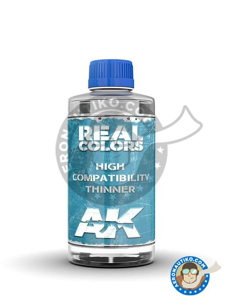 Real Colors thinner. 200ml | Thinner manufactured by AK Interactive (ref. RC701) image