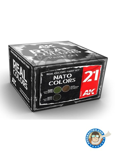 Colors set for NATO vehicles. | Paints set manufactured by AK Interactive (ref. RCS021) image