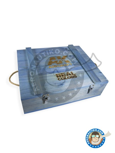 WOODEN TRANSPORT BOX, Real Colors AIR – Special edition | Real colors set manufactured by AK Interactive (ref. RC_WOOD_AIR) image
